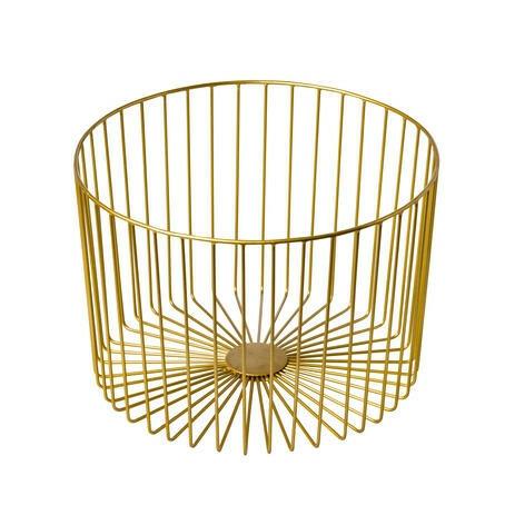 presentatiemand metaal Elements goud Ø 33 x 23(h) cm