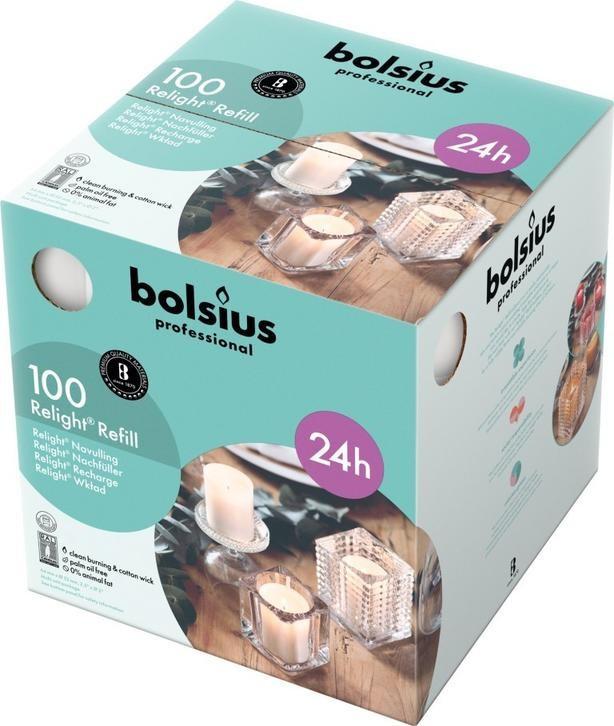 Bolsius ReLight Refill wit 24 uur DOOS 100