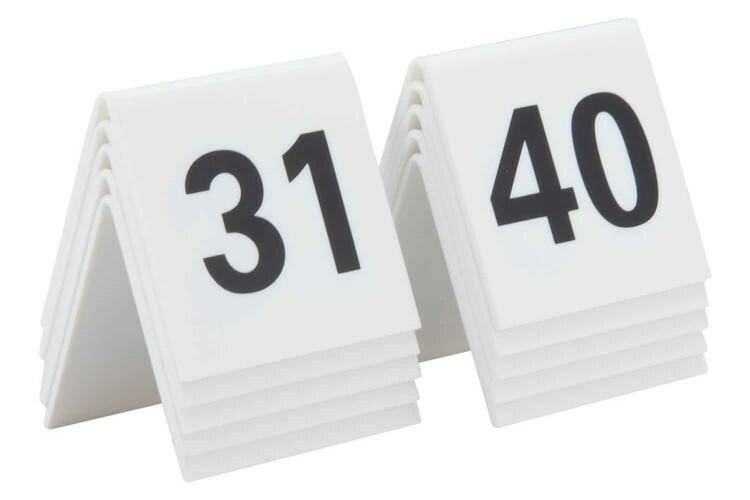 Securit tafelnummers 31 - 40 acryl 5,2 x 4,5 x 5,2(h) cm DOOS 10