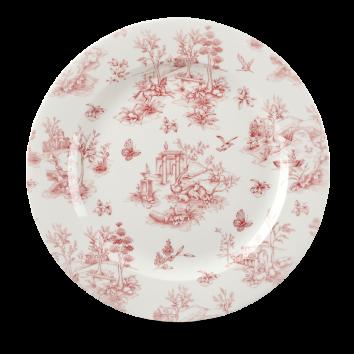 Churchill Vintage Cranberry Toile Plate 30.5 cm