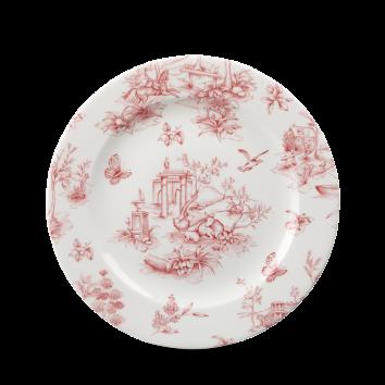 Churchill Vintage Cranberry Toile Plate 21 cm