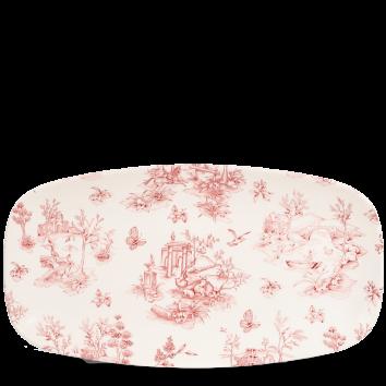 Churchill Vintage Cranberry Toile Chef`s Plate 35,5 x 18,9 cm