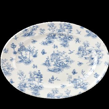 Churchill Vintage Prague Toile Oval Rimmed Dish 36.5 cm