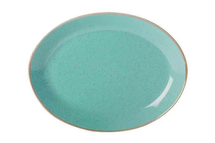 Porland Seasons Turquoise ovaal bord 36 x 27 cm