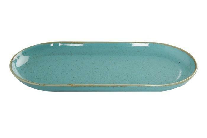 Porland Seasons Turquoise oblong bord 30 x 15 cm
