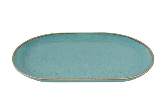 Porland Seasons Turquoise oblong bord 32 x 20 cm