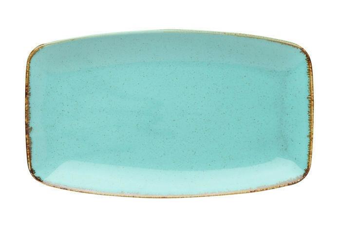 Porland Seasons Turquoise oblong bord 31 x 18 cm