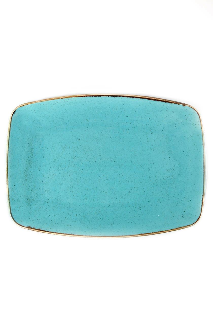 Porland Seasons Turquoise oblong bord 32,5 x 23 cm