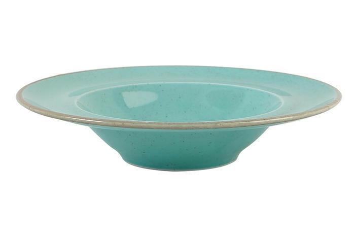 Porland Seasons Turquoise bord diep brede rand 30 cm