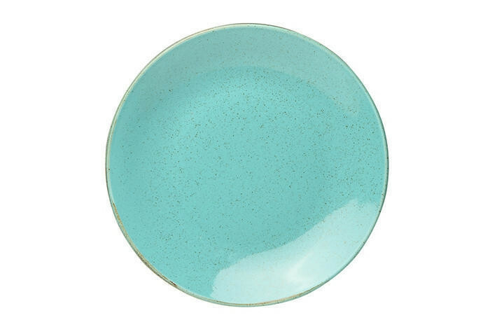 Porland Seasons Turquoise coupe bord 28 cm