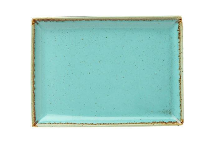 Porland Seasons Turquoise oblong bord 27 x 21 cm