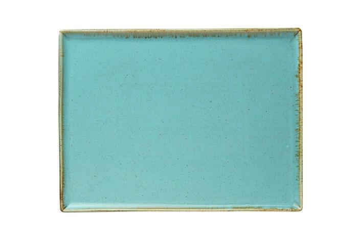 Porland Seasons Turquoise oblong bord 35 x 25 cm