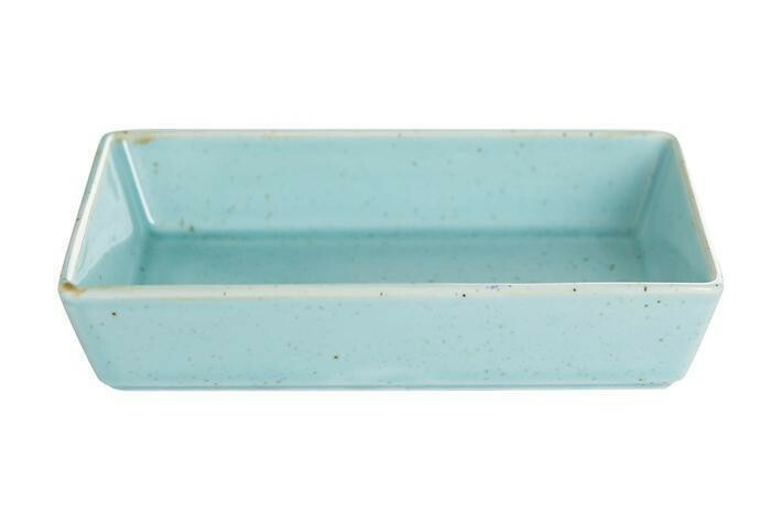 Porland Seasons Turquoise mezze schaaltje rechthoek 13 x 10 cm