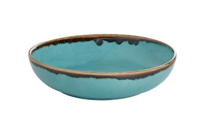 Porland Seasons Turquoise bowl laag 17 cm 41,5 cl