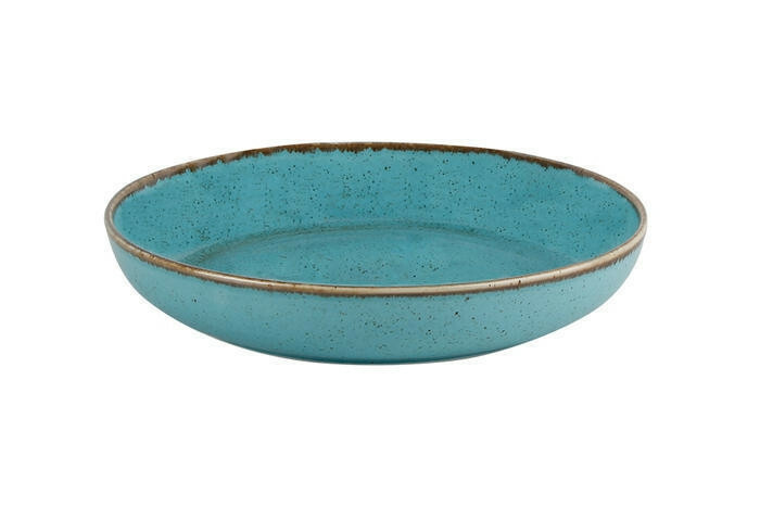 Porland Seasons Turquoise bowl laag 22 cm 83,5 cl