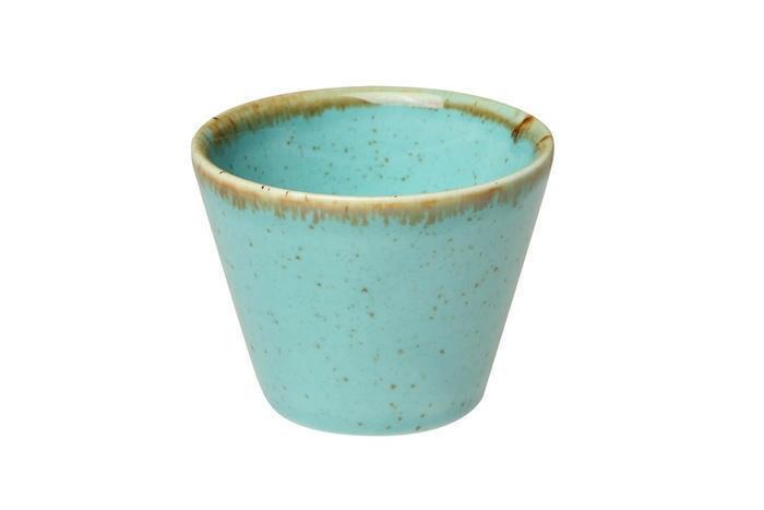 Porland Seasons Turquoise bowl conisch 6 cm 4,7 cl