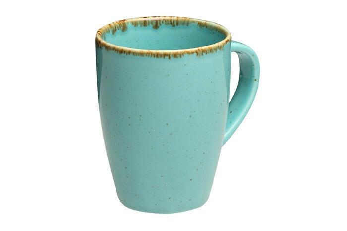 Porland Seasons Turquoise beker met oor  36 cl