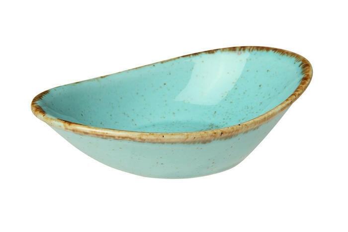 Porland Seasons Turquoise mini bowl ovaal 11 cm