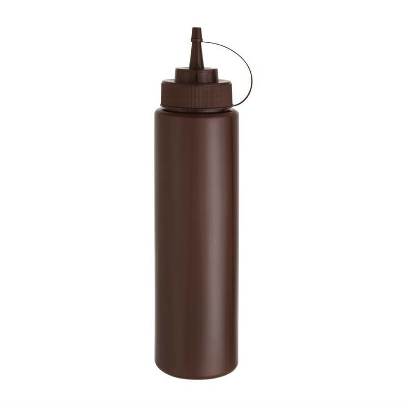 knijpfles 99 cl bruin Ø 7,6 cm hoog 29 cm