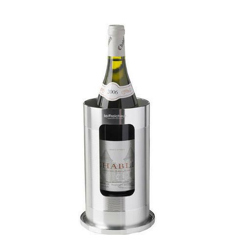 La Fraicheur wijnkoeler titanium look Ø 12 x 22,5(h) cm