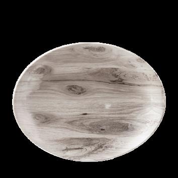 Churchill Textures ovaal coupe bord 31,7 cm sepia wood