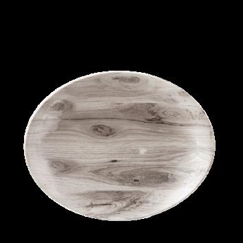 Churchill Textures coupe bord ovaal 19,2 cm sepia wood
