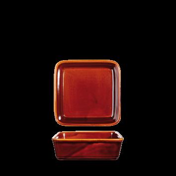 Art de Cuisine Rustics Simmer Brown square deli dish 13 cm