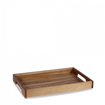 Churchill Wood solid base handled tray 39,7 x 25,8 cm