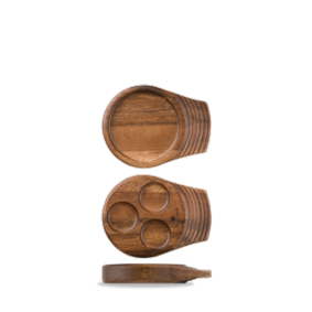 Art de Cuisine Wood small single handled wooden tray 18 x 14 cm