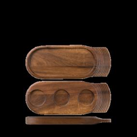 Art de Cuisine Wood medium single handled wooden tray 35,5 x 14 cm
