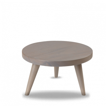 Churchill Wood lage graphite round stand 25 x 15(h) cm