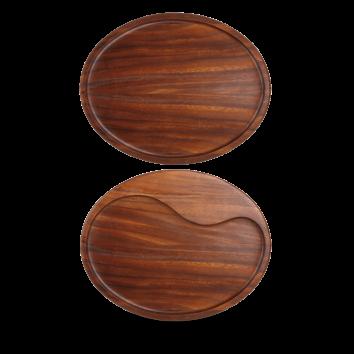 Churchill Wood oval wooden board 29,3 x 22,3 cm