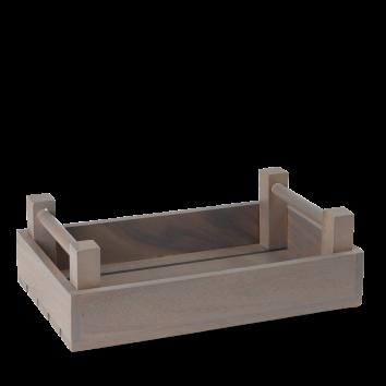 Art de Cuisine Wood rectangular graphite crate 34 x 20 x 10(h) cm
