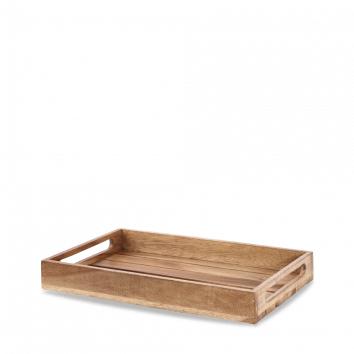 Art de Cuisine Wood small rustic nesting crate 39,7 x 25,8 x 5(h) cm