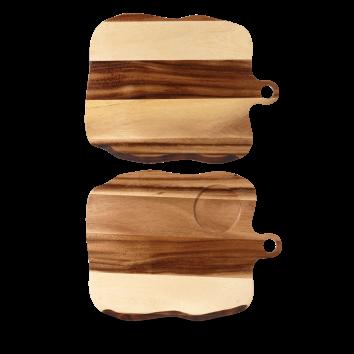 Art de Cuisine Naturale Wood square organic paddle board 35 x 27 cm