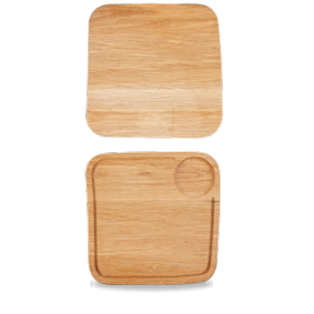 Art de Cuisine Rustic Oak medium square oak board 25,5 cm