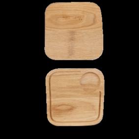 Art de Cuisine Rustic Oak small square oak board 20 cm