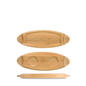 Churchill Wood small wooden tray 40 cm