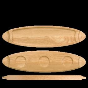 Churchill Wood medium wooden tray 55 cm
