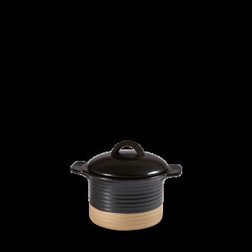 Art de Cuisine Igneous black cocotte with lid 14 x 7 cm 35 cl