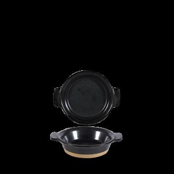 Art de Cuisine Igneous black individual dish Ø 14 cm 28,4 cl