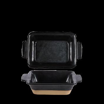 Art de Cuisine Igneous black rectangular dish 17 x 13 cm 48,3 cl