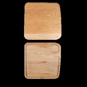 Art de Cuisine Rustic Oak large square oak board 29 cm